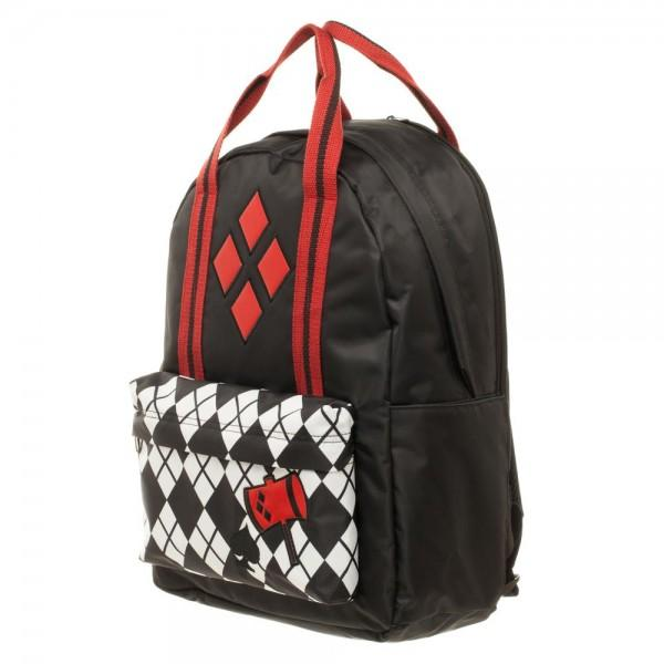 DC Comics Harley Quinn Pocket Top Handle Backpack - 5and15