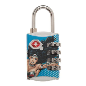 DC Comics Wonder Woman Graphic Design TSA Approved Travel Combination Luggage Lock for Suitcase Baggage - 5and15