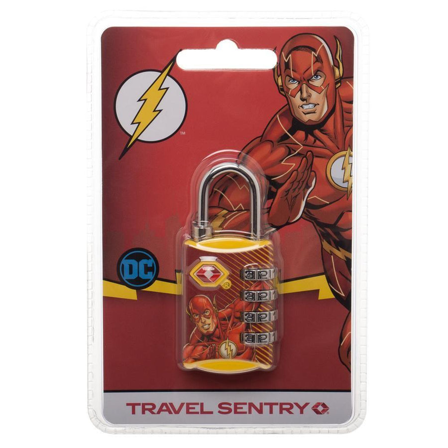 DC Comics The Flash Graphic Design TSA Approved Travel Combination Luggage Lock for Suitcase Baggage - 5and15