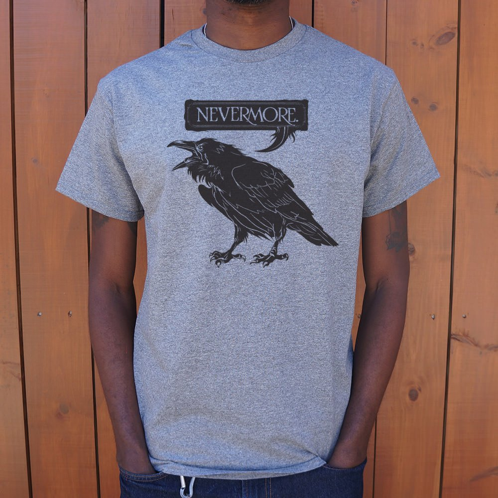 Mens Nevermore Raven T-Shirt *Free Shipping* - 5and15