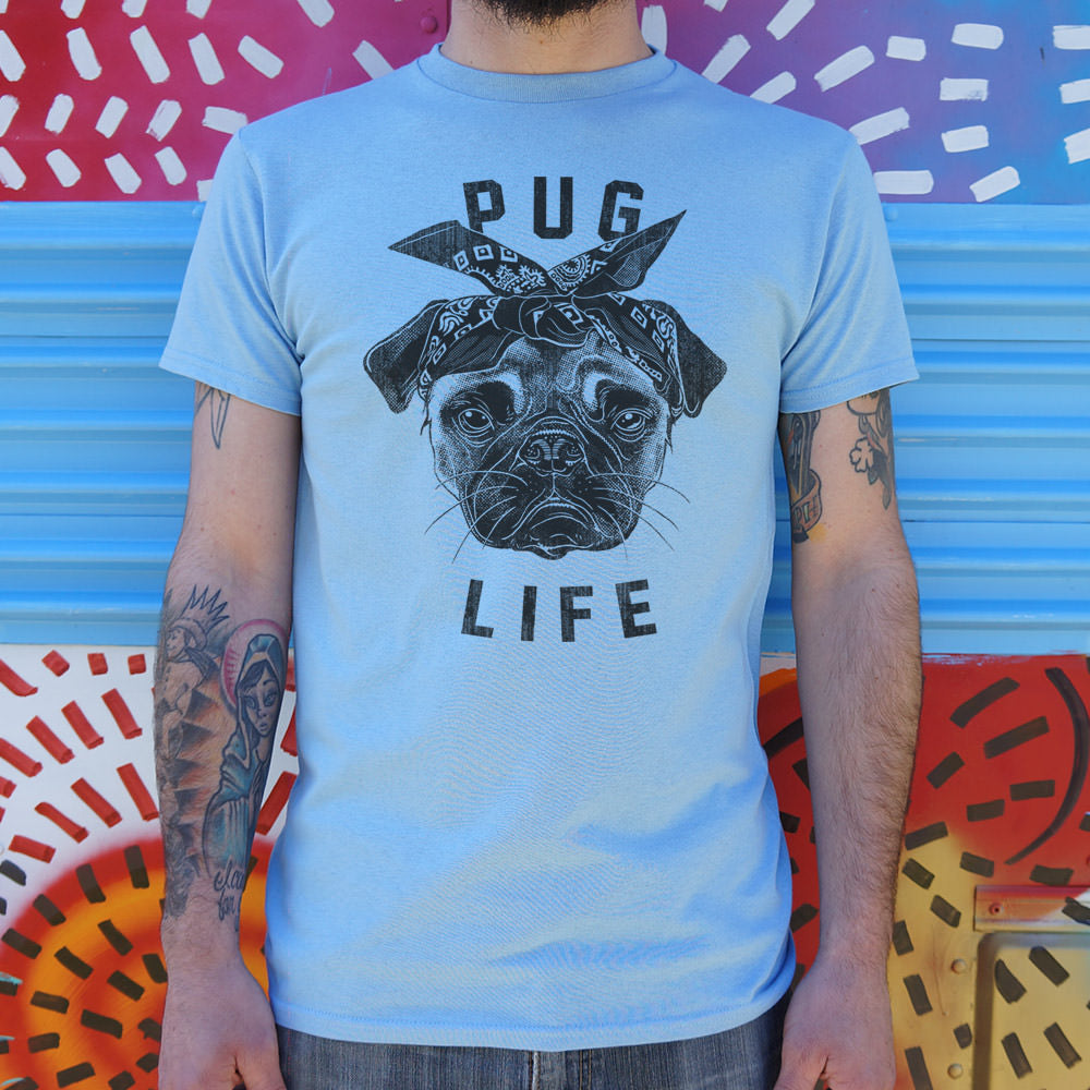 Mens Pug Life Dog T-Shirt *Free Shipping* - 5and15