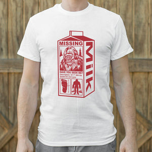 Mens Sasquatch Milk Carton T-Shirt *Free Shipping* - 5and15