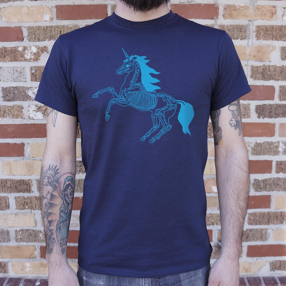 Mens Unicorn Skeleton T-Shirt *Free Shipping* - 5and15