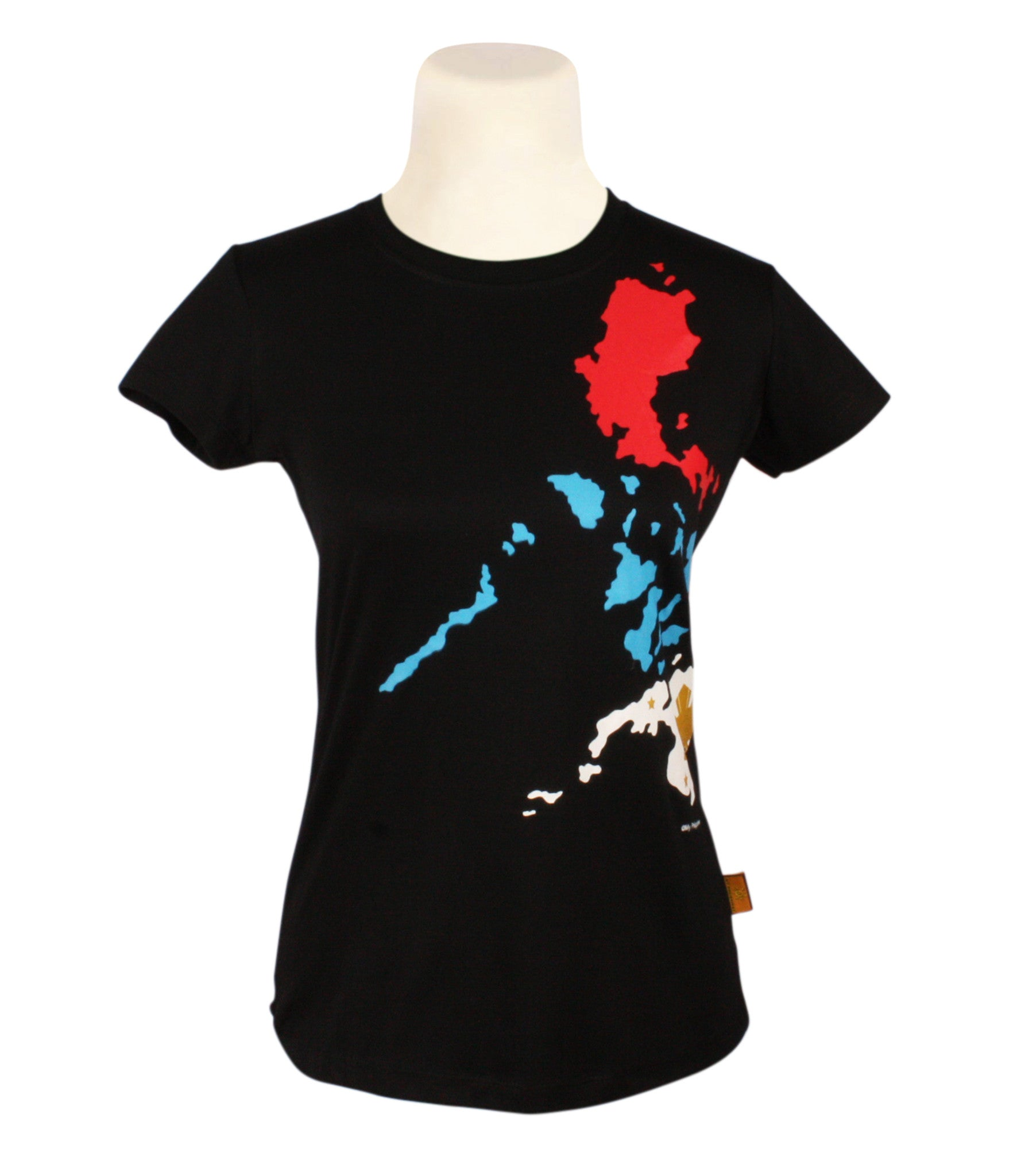 Tri Color Map in black for Ladies