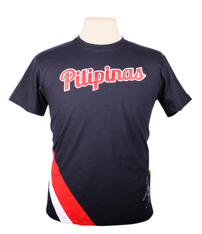 Pilipinas Sports Shirt in navy blue
