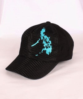 Mesh Cap Black with blue map