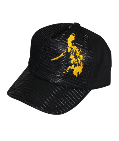 Mesh Cap Black with yellow map