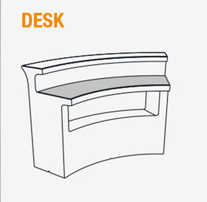 Abdeckplatte DESK für Slide Leucht-Theke BREAK BAR, halbrund | brandamba.com
