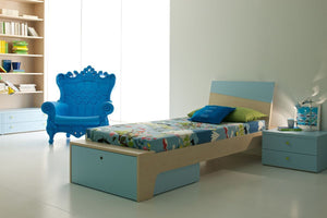 Slide Kindersessel LITTLE QUEEN OF LOVE von Moro & PigattiSlide blau | brandamba.com