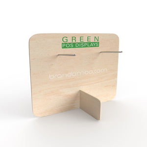 Holzdisplay Thekendisplay M - GREEN POS Display - Steckdisplay
