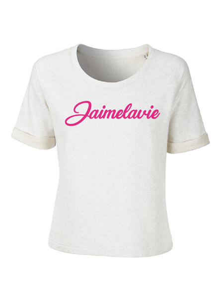 sweat T jaimelavie fuchsia flock