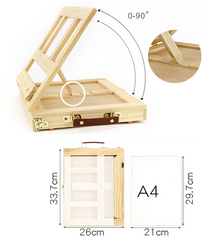 Sketch box table top easel