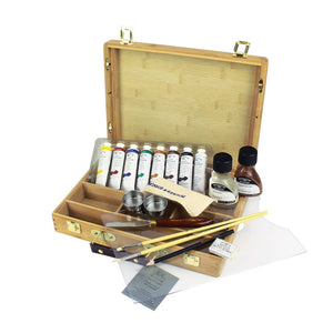 Winsor & Newton Artists' Oils Bamboo Box Set