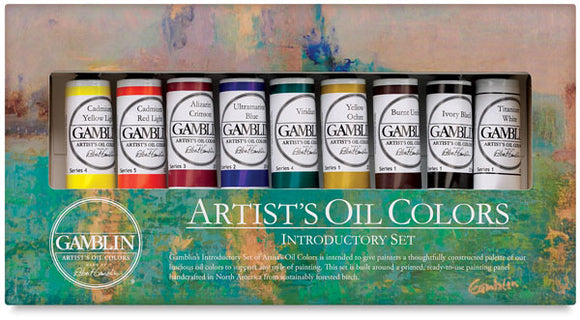 Gamblin Fastmatte Introductory Alkyd Oil Colours Set