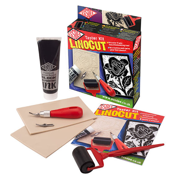 Essdee Linocut Taster Kit create two beautiful Linocuts without committing to expensive tools and equipment