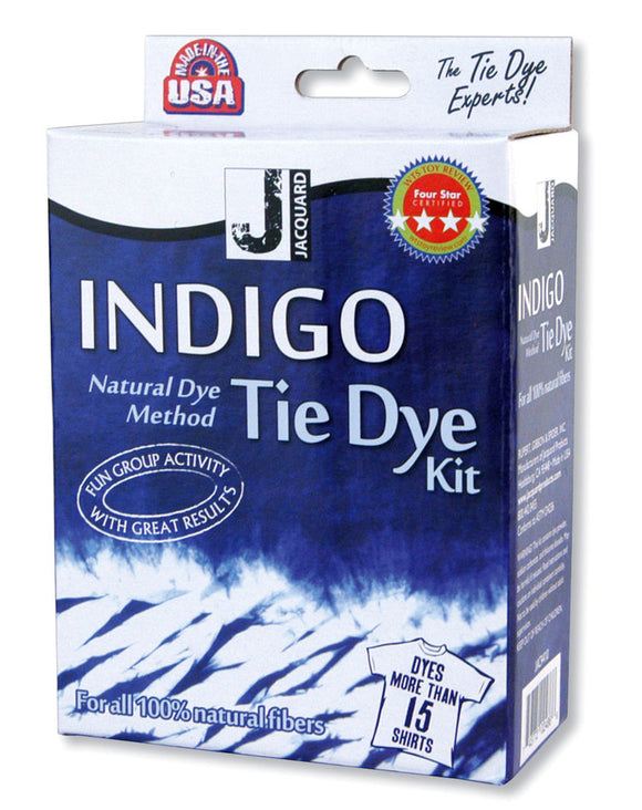 Jacquard Indigo Tie Dye Easy-to-use kit quickly produces an Indigo vat. Dyes up 15 T-shirts