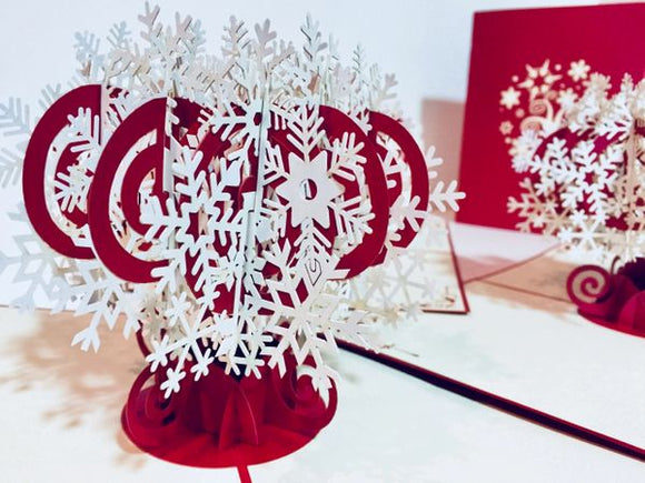 Snowflake Tree!  3D Card- Free Shipping!