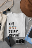 """Eat, Sleep, Art, Repeat"" Men's Cotton Crew Tee Shirt"