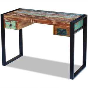 vidaXL Office Desk Artist Table Solid Reclaimed Wood