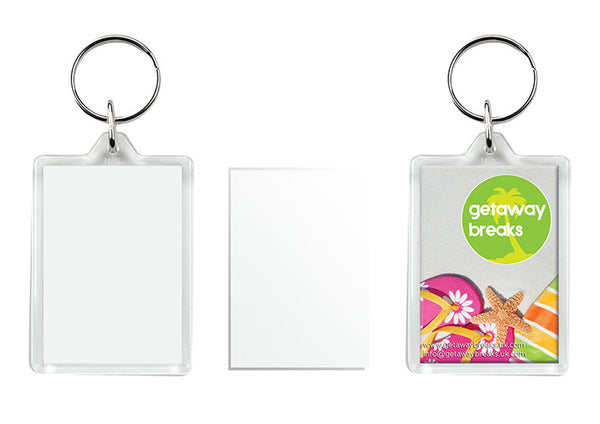 Blank Insert Photo Keyrings