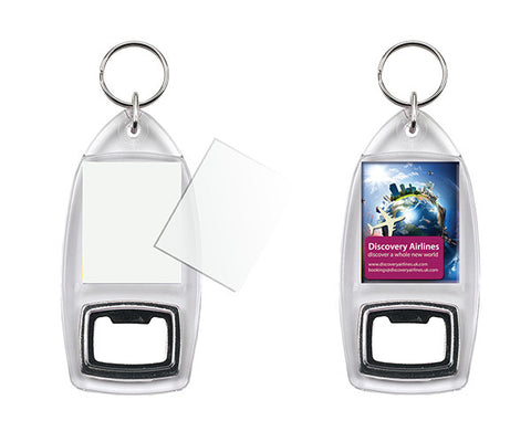 Bottle Opener Keyring 32 x 40mm Insert Size