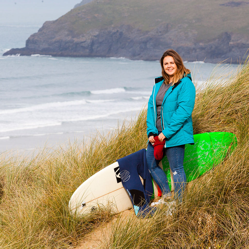 Surfer's Against Sewage's Emily Haggett often finds milk bottles washed up on the coast line, I asked her what she thought of us creating recycled packaging out of them
