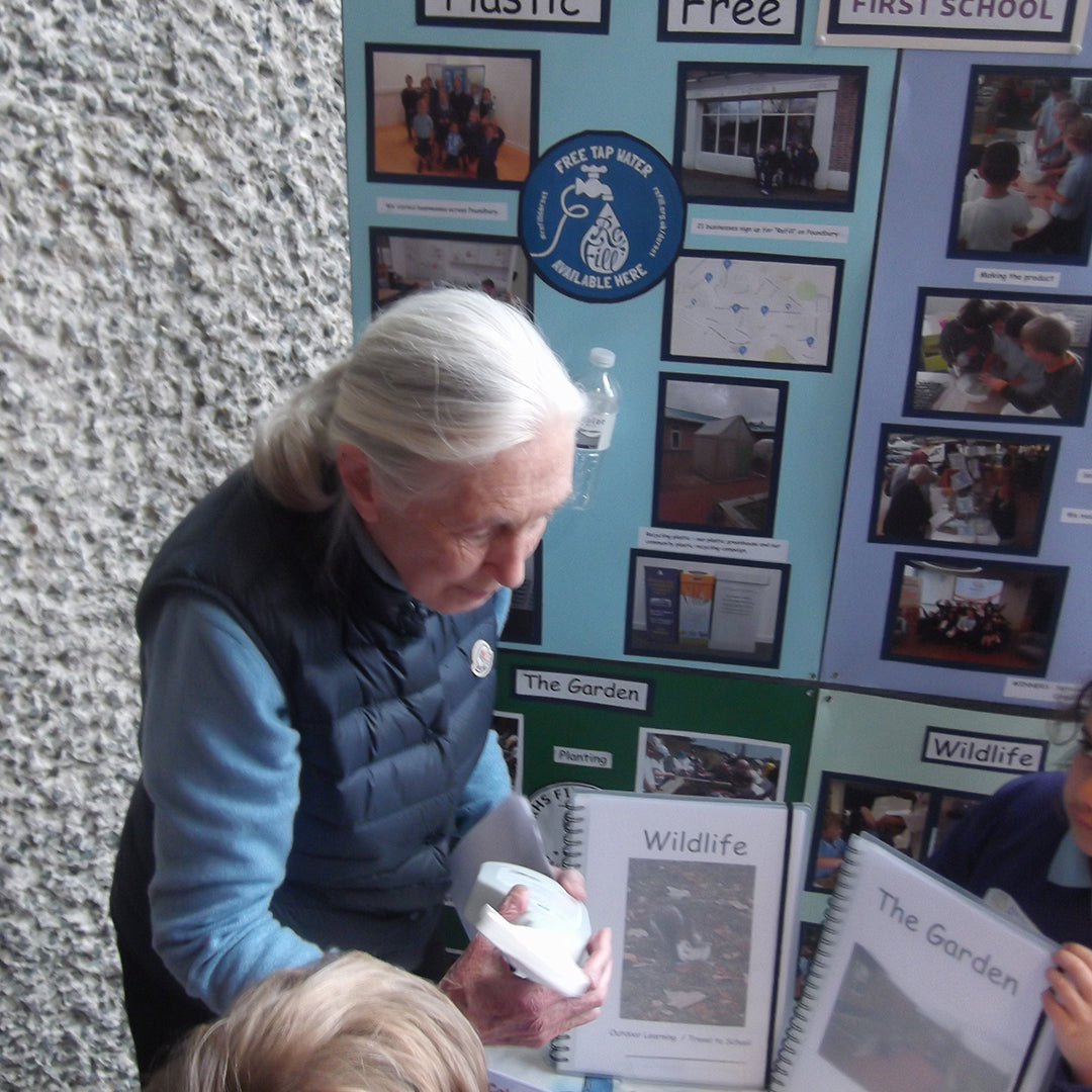 Dame Jane Goodall among famous visitors to Damer's school in awe of their eco efforts