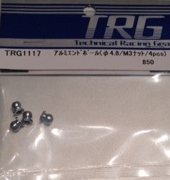 TRG1117 - Alum. End ball(D4.8/M3 nut/4pcs)