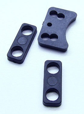 3376 Molded Servo parts - Saver brace + Servo spacers