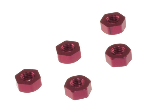 AW-FN03RD Aluminum Flat Nut M3 Red ( 5pcs)