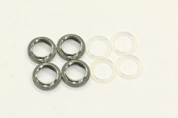 909405 - Shock adjusting nut alu. + O-rings (4)