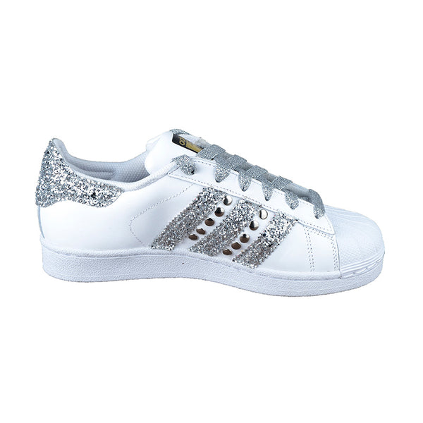 super popular 44159 83869 Originals Glitter Boutique Adidas Silver – Kirù Superstar Customized O0qxwqd
