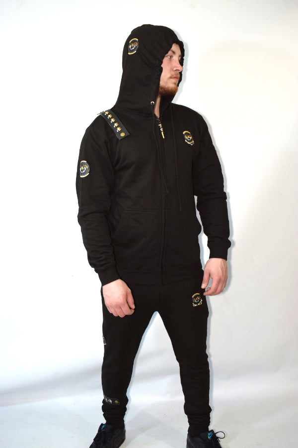 Ribbon loop tracksuit black
