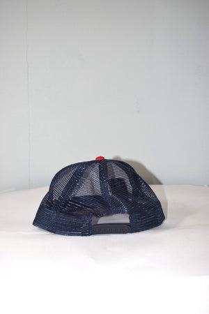 buttoncross snapback white/navy/red (mesh)