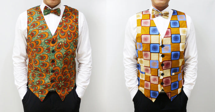 Different ways to wear the African men's vest