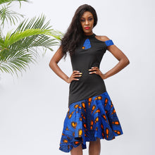 Fashion Ankara Dress African Wax Print Dress Sexy Party Dress - SHENBOLEN