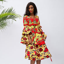 Women's Ankara Dresses African Floral Print Dress - SHENBOLEN