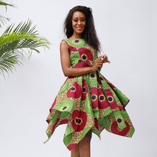 Women African Print Dresses Traditional Clothing Casual Party Dress - SHENBOLEN