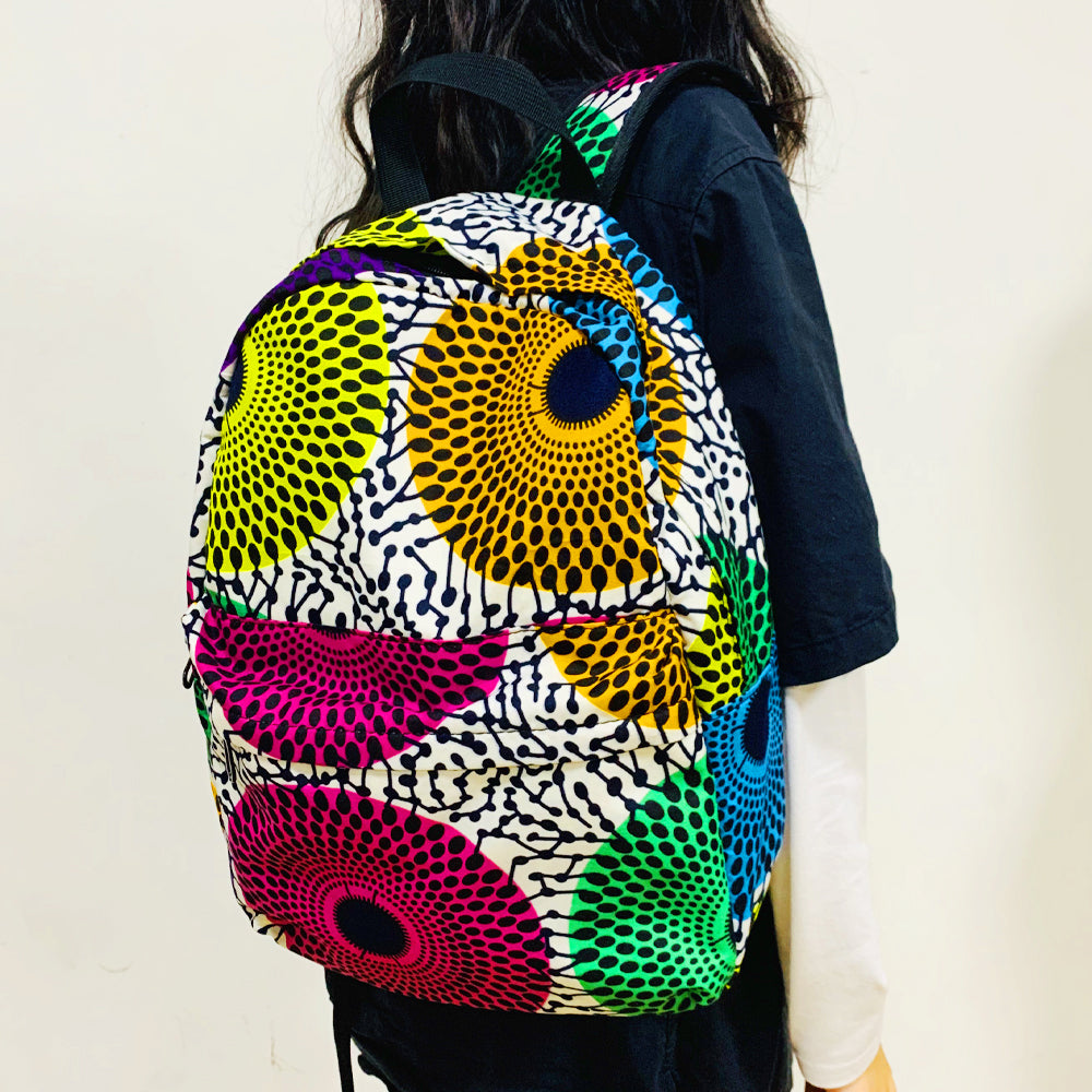 Ankara Backpack For Woman African Fashion Print Bag - SHENBOLEN