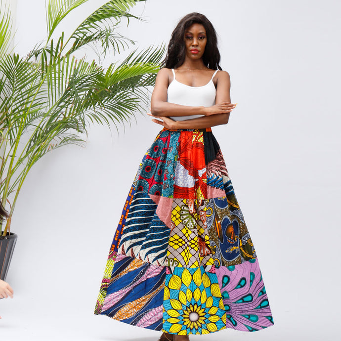 African Clothing Print Skirt Ankara Traditional Long Skirts One size  african fashion