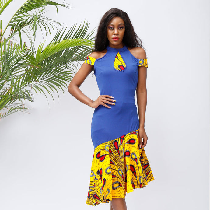 African Dresses for Women Ankara print Clothing Sexy Party Dress  african fashion