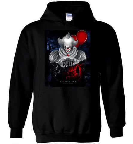 IT Chapter Two Hoodie The Clown Is Back Horror Halloween Men Hooded Sweatshirt - Sport Fun Shop