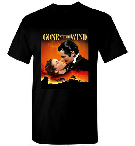 Gone With The Wind T-Shirt American Classic Romance Film Men T-Shirt Size S-5XL - Sport Fun Shop