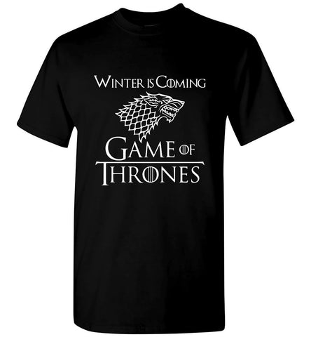 Game Of Thrones T Shirt Winter Is Coming Tee Men T-Shirt Multicolor Size S-5XL - Sport Fun Shop