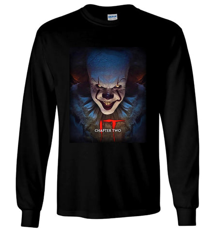 It Chapter Two T-Shirt Clown Pennywise Returns Horror Halloween Men LS T-Shirt - Sport Fun Shop