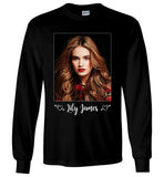 Lily James LS T-Shirt Cinderella Mamma Mia Movie Actress Men Long Sleeve T-Shirt - Sport Fun Shop