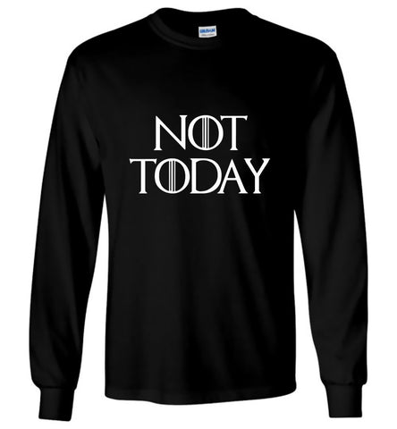 Game Of Thrones T-Shirt Not Today White Character Men Long Sleeve T-Shirt S-5XL