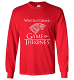 Game Of Thrones LS T Shirt Winter Is Coming Men Long Sleeve T-Shirt Multicolor - Sport Fun Shop