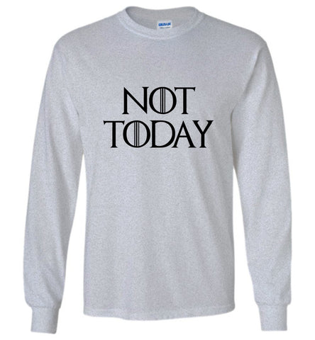 Game Of Thrones T-Shirt Not Today Funny Character Tee Men LS Shirt Multi Colors - Sport Fun Shop