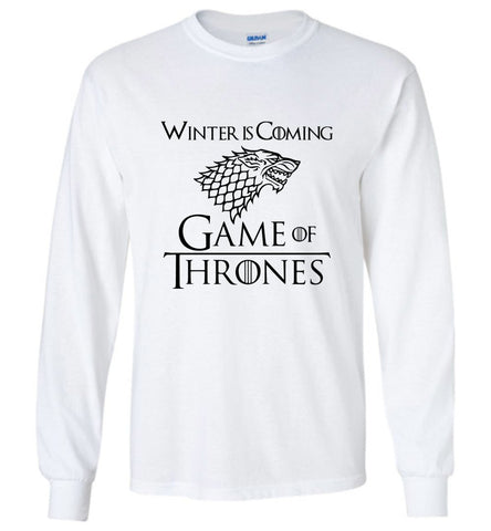 Game Of Thrones LS T Shirt TV Series Tee Men Long Sleeve T-Shirt Multicolor - Sport Fun Shop